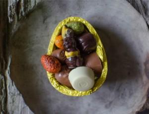 Paasei gevuld met bonbons
